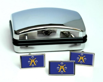 Turku Flag Cufflink and Tie Pin Set