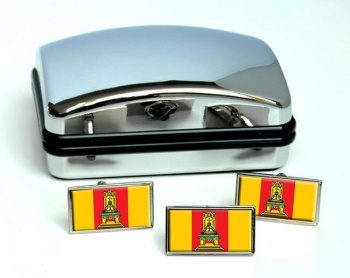 Tver Oblast Flag Cufflink and Tie Pin Set