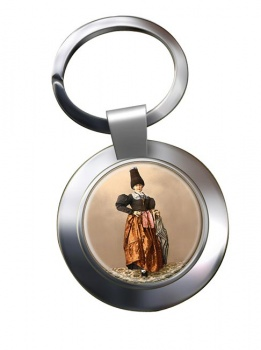 Tyrolean National Costume Chrome Key Ring