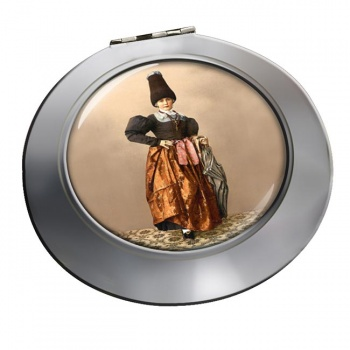 Tyrolean National Costume Chrome Mirror