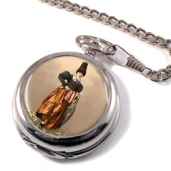 Tyrolean National Costume Pocket Watch
