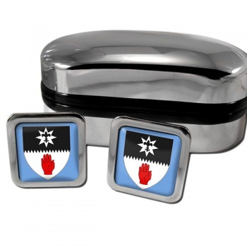 County Tyrone UK Square Cufflinks