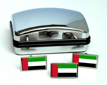 United Arab Emirates Flag Cufflink and Tie Pin Set