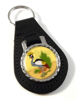Uganda Badge Leather Key Fob