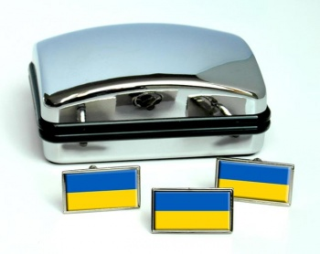 Ukraine  Flag Cufflink and Tie Pin Set