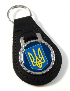 Ukraine  Leather Key Fob