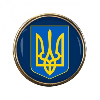 Ukraine Round Pin Badge