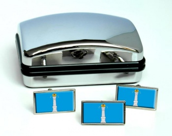 Ulyanovsk Oblast Flag Cufflink and Tie Pin Set