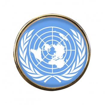 United Nations Round Pin Badge