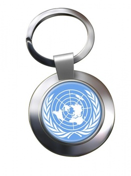 United Nations Metal Key Ring