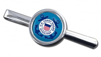 United States Coast Guard Auxiliary Round Tie Clip