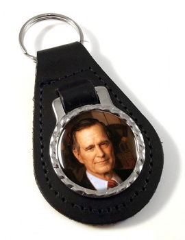President George Bush Leather Key Fob