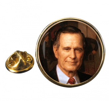 President George Bush Round Pin Badge