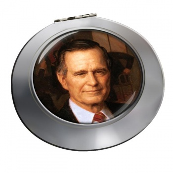 President George Bush Chrome Mirror