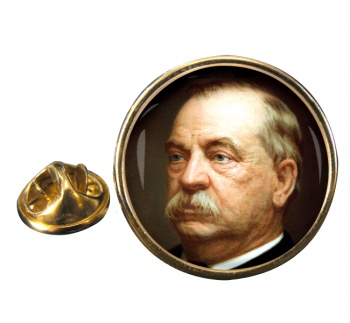 President Grover Cleveland Round Pin Badge