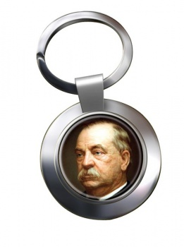 President Grover Cleveland Chrome Key Ring