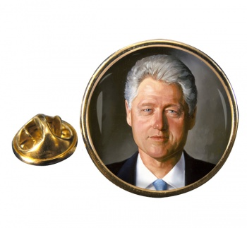 President Bill Clinton Round Pin Badge