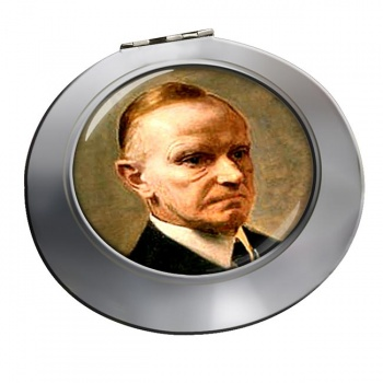 President Calvin Coolidge Chrome Mirror