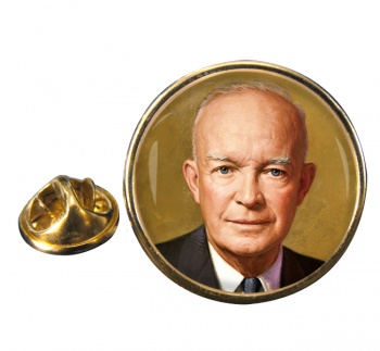 President Dwight Eisenhower Round Pin Badge