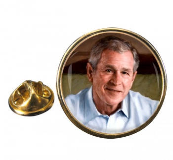 President George W. Bush Round Pin Badge