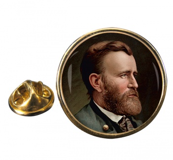 President Ulysses S. Grant Round Pin Badge