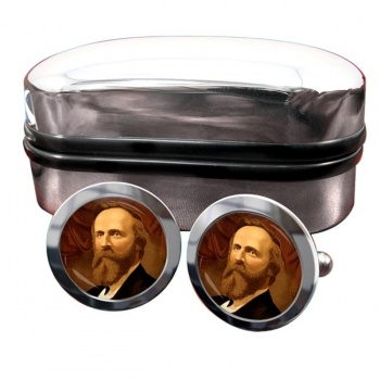 President Rutherford Hayes Round Cufflinks