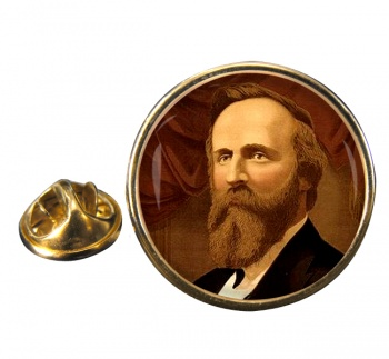 President Rutherford Hayes Round Pin Badge