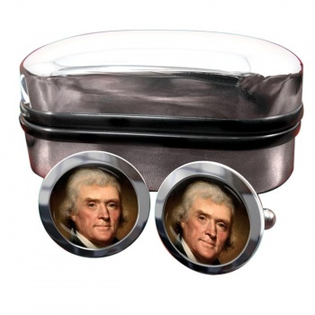 President Thomas Jefferson Round Cufflinks