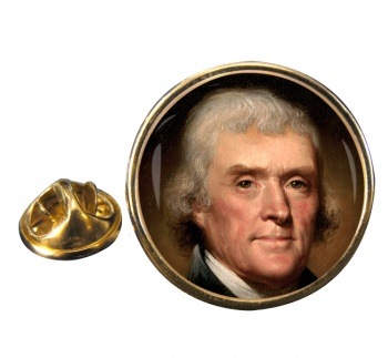 President Thomas Jefferson Round Pin Badge