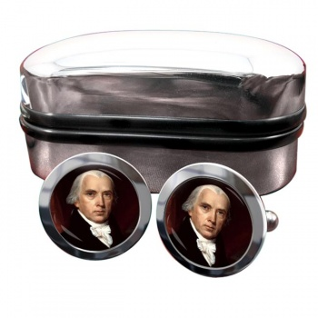 President James Madison Round Cufflinks
