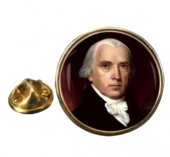 President James Madison Round Pin Badge