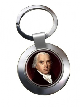 President James Madison Chrome Key Ring