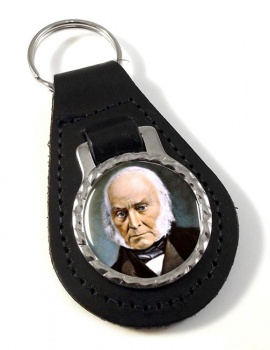 President John Quincy Adams Leather Key Fob