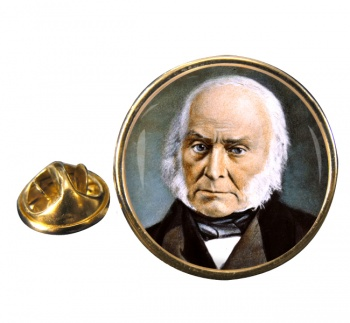 President John Quincy Adams Round Pin Badge