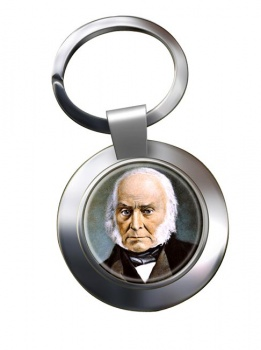 President John Quincy Adams Chrome Key Ring