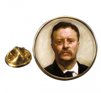 President Theodore Roosevelt Round Pin Badge