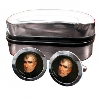 President William Henry Harrison Round Cufflinks