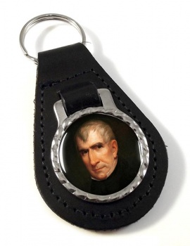 President William Henry Harrison Leather Key Fob