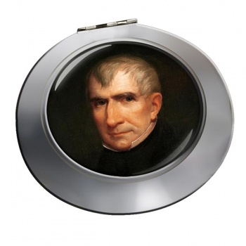 President William Henry Harrison Chrome Mirror