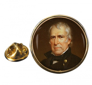 President Zachary Taylor Round Pin Badge