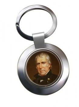 President Zachary Taylor Chrome Key Ring