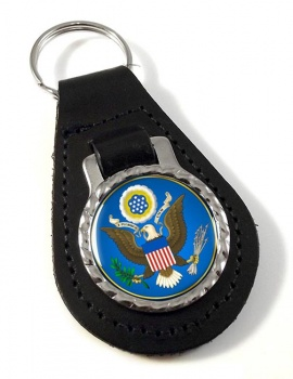 United States Seal obverse  Leather Key Fob