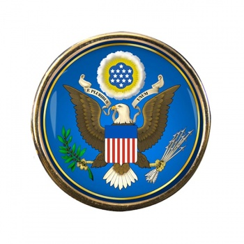 United States Seal obverse Round Pin Badge