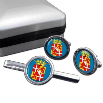 Utrecht (Netherlands) Round Cufflink and Tie Clip Set