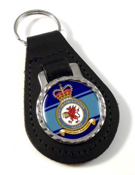 RAF Station Valley Leather Key Fob