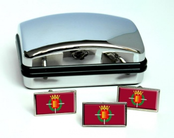 Valladolid Ciudad (Spain) Flag Cufflink and Tie Pin Set