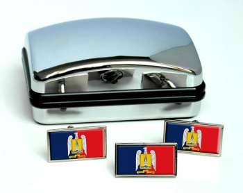 Valparaiso (Chile) Flag Cufflink and Tie Pin Set