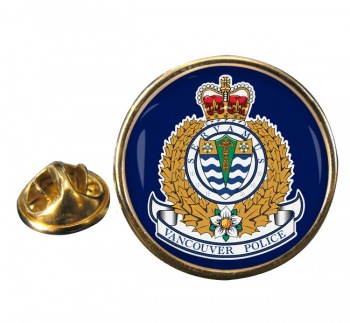 Vancouver Police Round Pin Badge