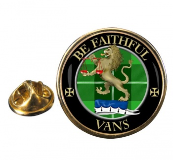 Vans Scottish Clan Round Pin Badge