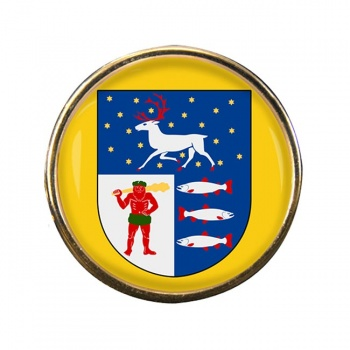 Vasterbotten (Sweden) Round Pin Badge
